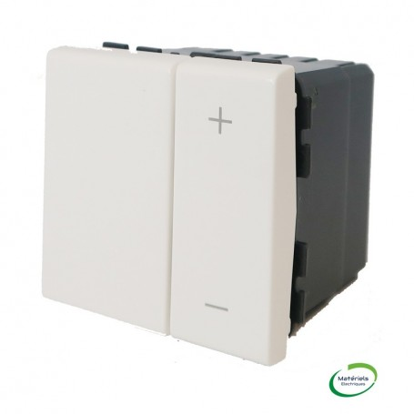LEGRAND 078404 - Interrupteur variateur, 2M, Blanc, Mosaic