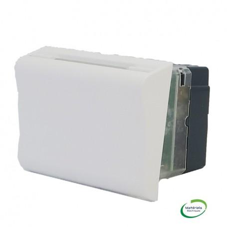LEGRAND 078445 - Interrupteur à badge mécanique, 2M, Blanc, Mosaic