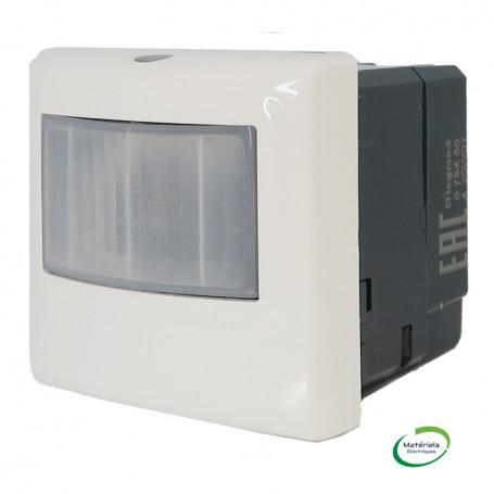 LEGRAND 078450 - Ecodétecteur basique 3 fils avec neutre, 2M, Blanc, Mosaic