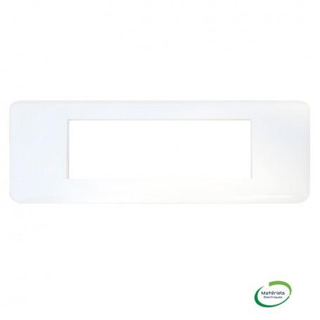 LEGRAND 078816 - Plaque, 6 Module, Horizontal, Blanc, Mosaic