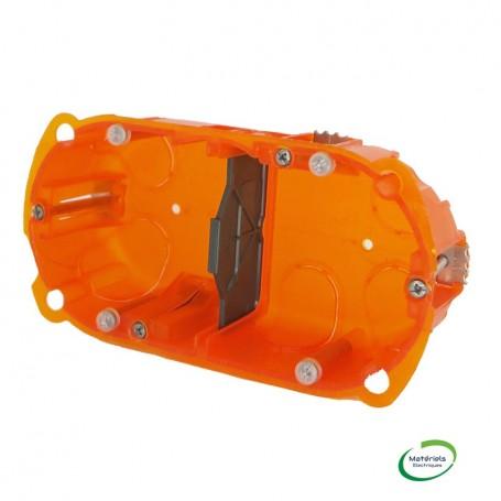 LEGRAND 080102 - Boîte multimatériaux, 2 postes, prof. 40mm
