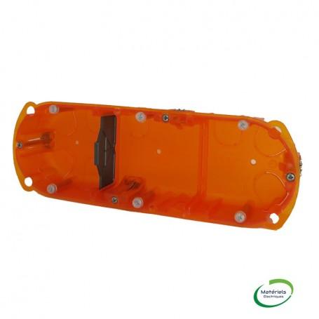 LEGRAND 080123 - Boîte multimatériaux, 3 poste, prof. 50mm