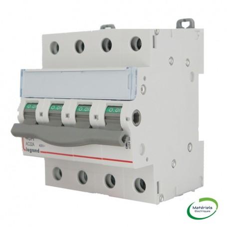 LEGRAND 406480 - Inter-Sectionner de tête DX-IS, 4P, 40A, 4 modules