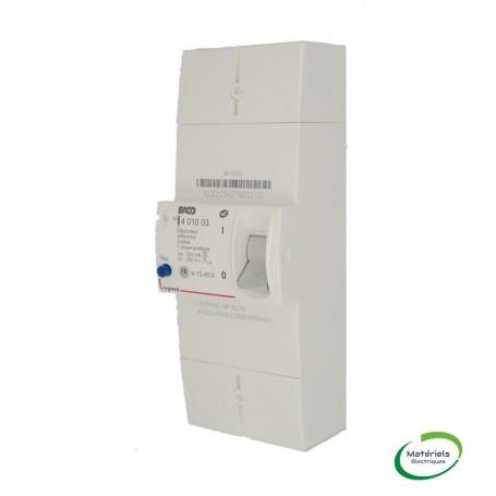 LEGRAND 401003 - Disjoncteur de branchement,  EDF, 2,P 15/45A, 500MA