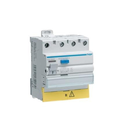 HAGER CDC825F - Interrupteur différentiel, 4x25A, 30mA, Type AC