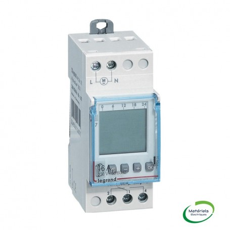 LEGRAND 412631- Interrupteur horaire, prog. digital,auto, multifonction