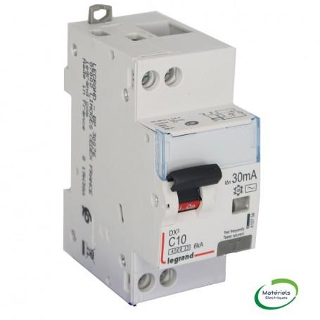 LEGRAND 410704 - Disjoncteur différentiel, U+N, 4,5/6KA, 10A, 30mA type AC