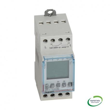 LEGRAND 412641 - Interrupteur horaire prog. digital,auto, multifonction