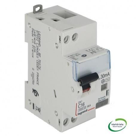 LEGRAND 410705 - Disjoncteur différentiel, U+N, 4,5/6KA, 16A, 30mA type AC