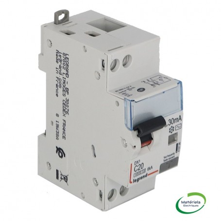 LEGRAND 410706 - Disjoncteur différentiel, U+N, 4,5/6KA, 20A, 30mA, type AC
