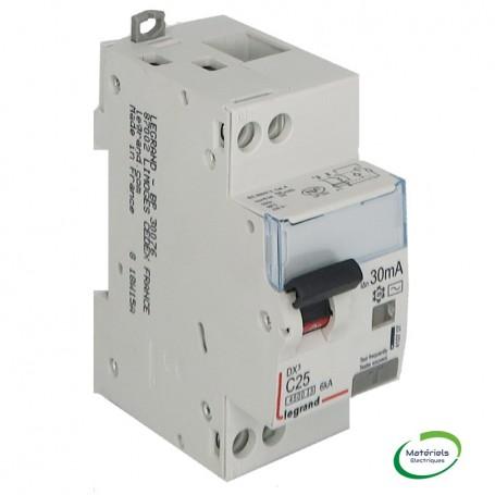 LEGRAND 410707 - Disjoncteur différentiel, U+N, 4,5/6KA, 25A, 30mA type AC