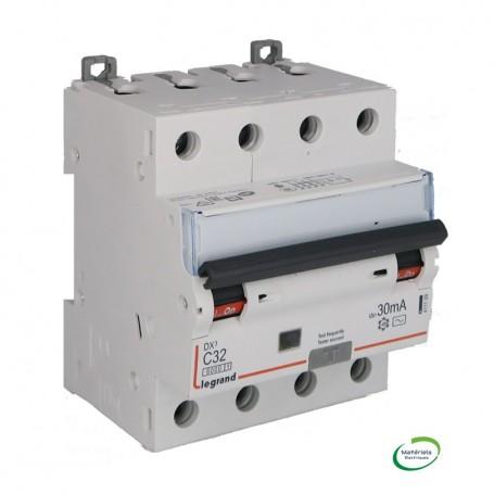 LEGRAND 411189 - Disjoncteur différentiel, 4P, 400V, 32A, typeAC, 30mA