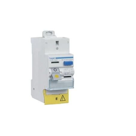 HAGER CDS765F - Interrupteur différentiel, 2P, 63A, 30mA, type A, sans vis