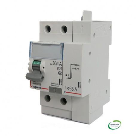 LEGRAND 411639 -  Interrupteur différentiel, 2x63A, 30mA, typeA