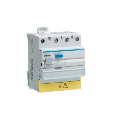 HAGER CFC863F - Inter. dif. 4x63A 300mA typeAC