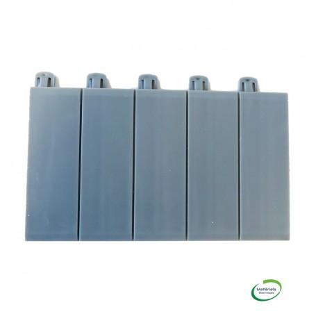 LEGRAND 001961 - Obturateurs, 5 modules, sécables, gris foncé