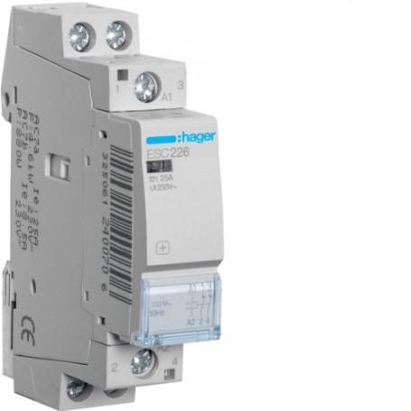 HAGER ESC226 - Contacteur, 25A, 2O, 230V