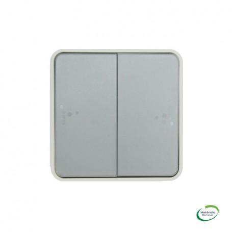 LEGRAND 069545 - Double poussoir NO+NF, Plexo, Composable, Gris