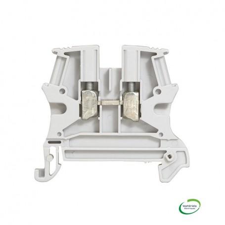 LEGRAND 037161 - Bloc de jonction de passage, 1 jonction, 4mm²,Gris