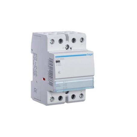HAGER ESC263S - Contacteur Silencieux, 63A, 2F, 230V