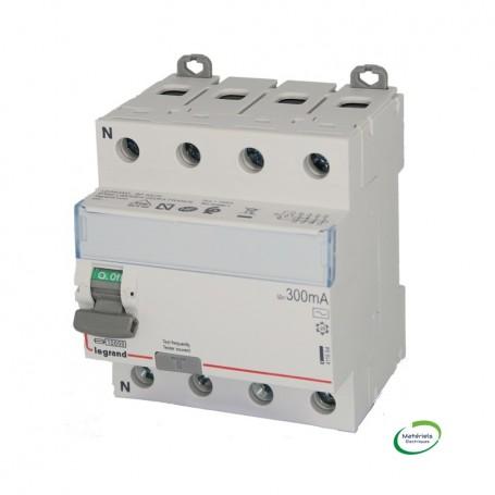 LEGRAND 411664 - Interrupteur différentiel, 4P, 25A, Type AC, 300MA
