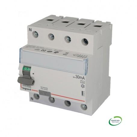 LEGRAND 411675 - Interrupteur différentiel, 4P, 40A, Type A, 30MA