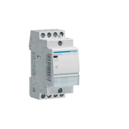 HAGER ESC425S - Contacteur Sil. 25A, 4F, 230V