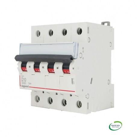 LEGRAND 408116 - DX3, Disjoncteur, 4P, D10, 6000A/10KA