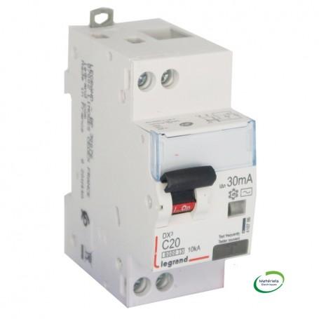 LEGRAND 410786 - Disjoncteur différentiel, 2P 20A, 30mA, TypeAC