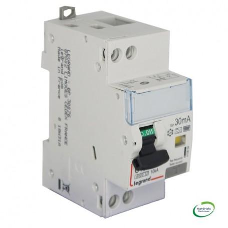 LEGRAND 410854 - Disjoncteur différentiel, 2P 10A, 30mA, TypeF