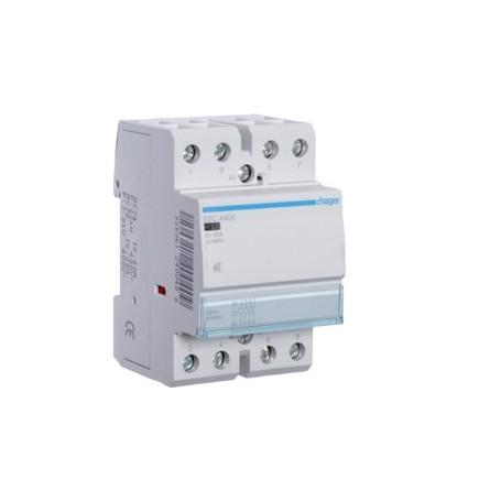 HAGER ESC440S - Contacteur Sil. 40A, 4F, 230V