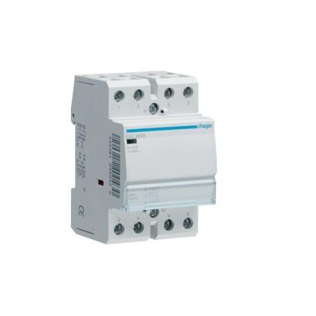 HAGER ESC463S - Contacteur Silencieux, 63A, 4F, 230V