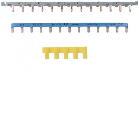 HAGER KBS763 - Barre pontage pour disjoncteur SansVis 13 modules