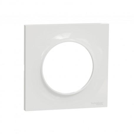 SCHNEIDER S520702 - Plaque simple 1 poste blanc, Odace