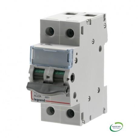 LEGRAND 406450 - Interrupteur-sectionneur, 2P, 400V, 12,5A, 2 modules