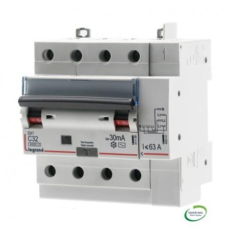 LEGRAND 411200 - Disjoncteur diff, 4P, 32A, typeAC, 10kA, courbe C, 5M