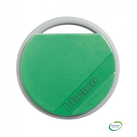 BTICINO 348202 - Badge de proximité résidents 13,56 MHZ Vert
