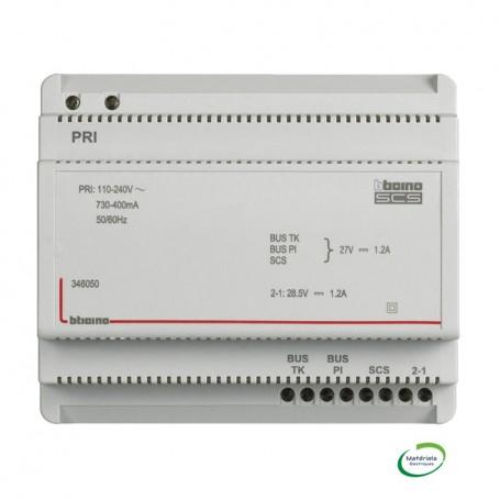 BTICINO BT346050 - Alimentation et adaptateur vidéo pour portier, 6 modules