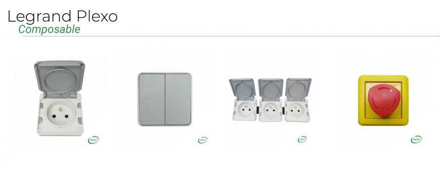 LEGRAND - Plexo appareillage étanche IP55 composable Gris