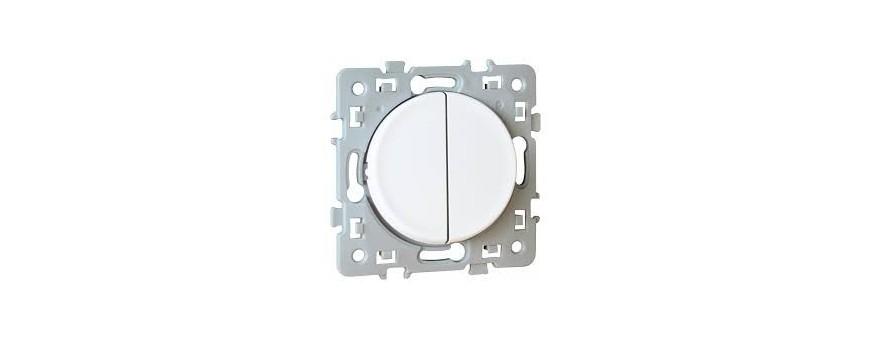 Eurohm Square - Interrupteur, va-et-vient, poussoirs, variateur, double va-et-vient, prise, prise TV, prise RJ