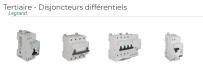 Tertiaire - Disjoncteurs différentiels Legrand