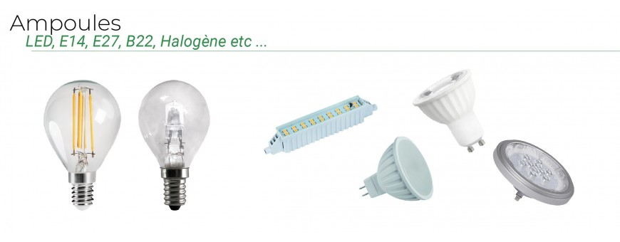 Ampoules LED GU10, MR16, E27, E14