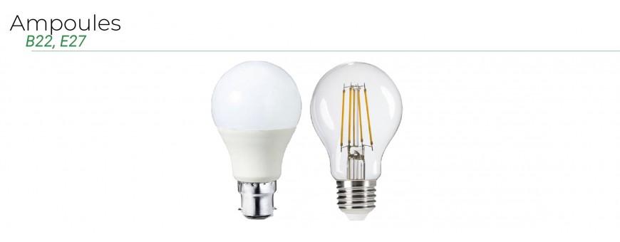 Ampoules LED B22 - E27