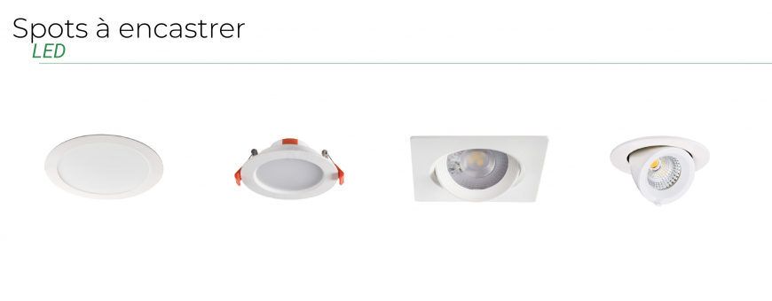 Spots à encastrer LED